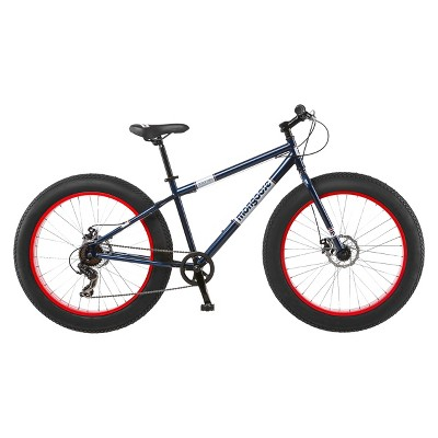 "Mongoose 26"" Dolomite Men's Fat Tire Mountain Bike   Navy/Red by Mongoose"