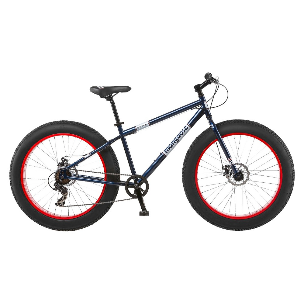 Mongoose 26 Dolomite Men's Fat Tire Mountain Bike - Navy/Red (Blue/Red)