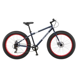"Mongoose 26"" Dolomite Men's Fat Tire Mountain Bike - Navy/Red"