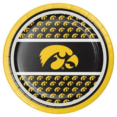 "8ct University of Iowa 7"" Dessert Plates - NCAA"