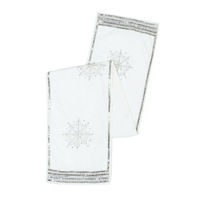 Vickerman Banded Snowflake Collection Christmas Textile Collection