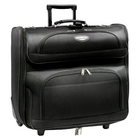 Travel Select Amsterdam Rolling Garment Bag Black