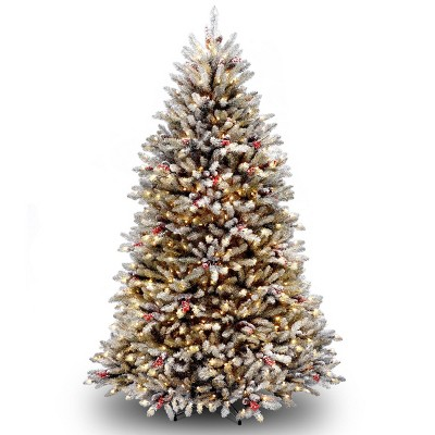 6.5ft National Christmas Tree Company Pre-Lit Dunhill Fir Artificial Christmas Tree with 650 Clear Lights