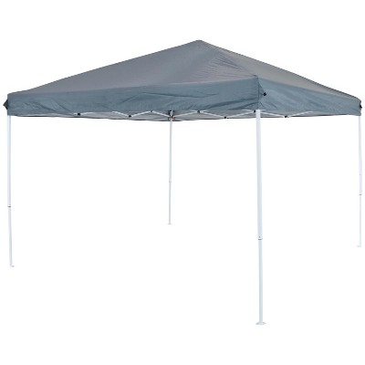 10'x10' Quick-Up Steel Frame Canopy with Carrying Bag Slate - Sunnydaze