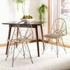 Set of 2 Madeline Rattan Dining Chair White Wash/Dark Steel - Safavieh - image 2 of 4