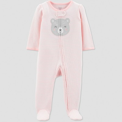 Baby Girls' Thermal Bear Sleep 'N Play - Just One You® made by carter's Pink Newborn
