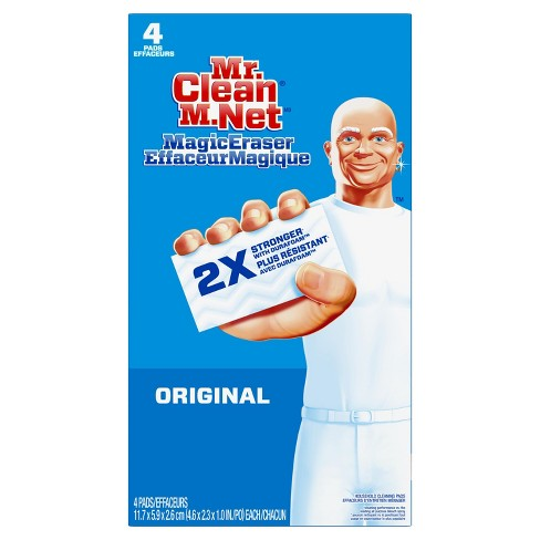 Mr Clean Magic Eraser Original Cleaning Pads With Durafoam 4ct