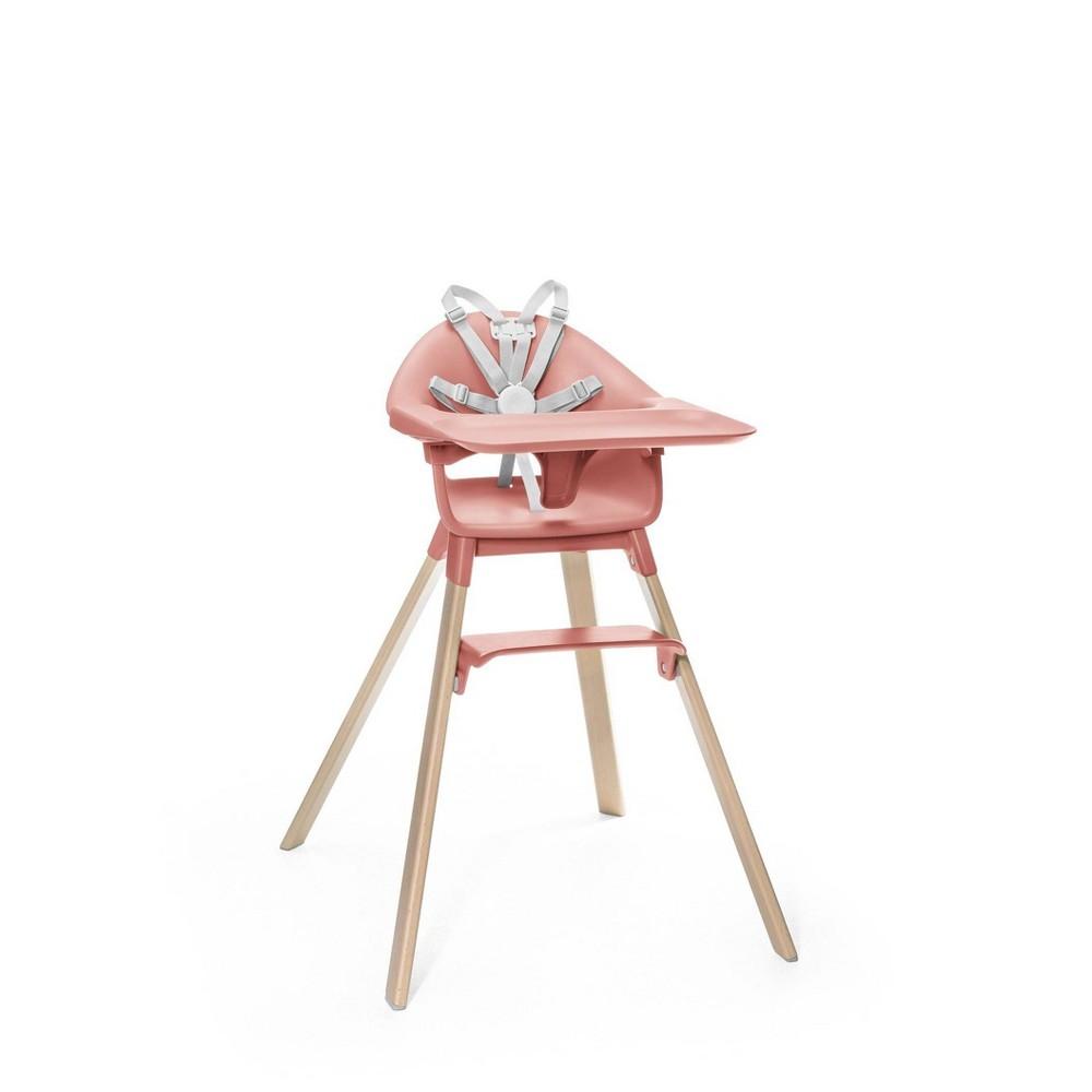 Image of Stokke Clikk High Chair - Sunny Coral, Orange