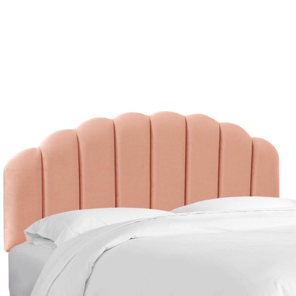 Full Shell Headboard Blush Velvet - Skyline Furniture