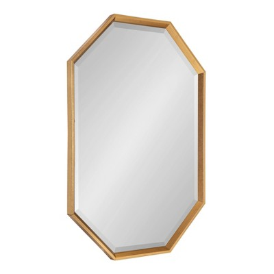 "38"" x 26"" Calter Elongated Octagon Wall Mirror Gold - Kate and Laurel"