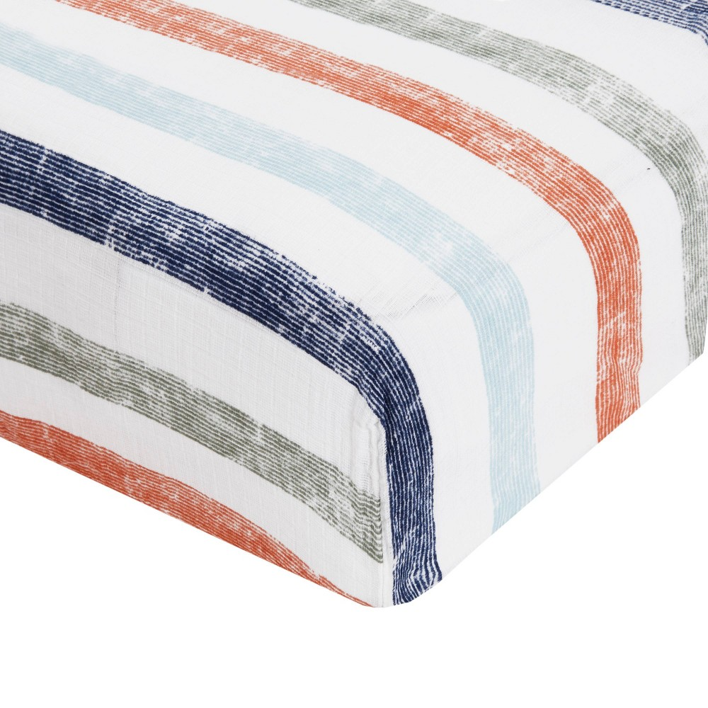 Image of aden by aden + anais Crib Sheet - Hit The Road Stripes