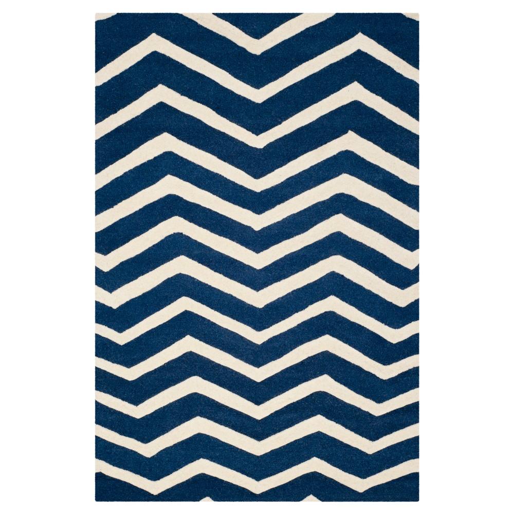 Safavieh Wilshire Area Rug - Navy / Ivory ( 4' X 6' ), Blue/Ivory