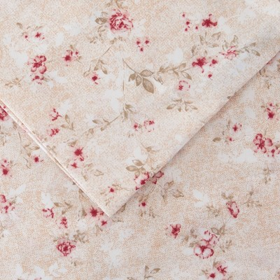 Modern Threads Printed 3 Piece Sheet Set, Kashmir Rose.