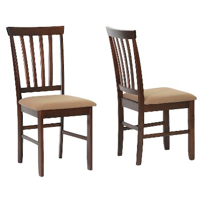 Tiffany Wood Modern Dining Chair - Brown (Set of 2)- Baxton Studio