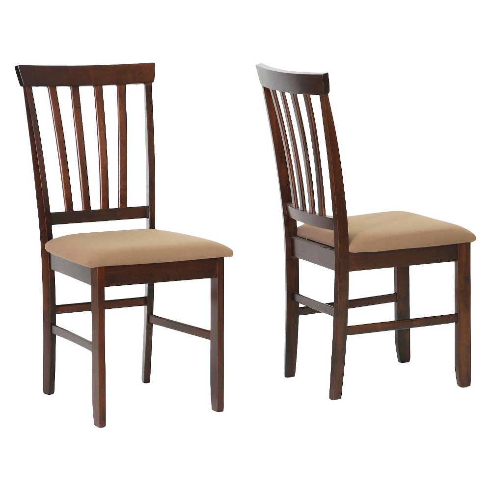 Tiffany Wood Modern Dining Chair - Brown (Set of 2) - Baxton Studio