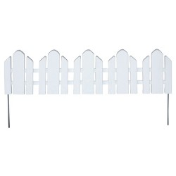 "22' Dackers Lawn Border Adirondack Style Flexible Fencing, 22"" Sections, 12 Pc - White - Emsco"