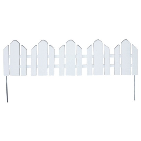 """22' Dackers Lawn Border Adirondack Style Flexible Fencing, 22"""" Sections, 12 Pc - White - Emsco - image 1 of 1"""