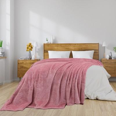 1 Pc Microfiber Fleece Shaggy Lightweight Bed Blankets - PiccoCasa