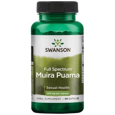 Swanson Full-Spectrum Muira Puama Root Capsules, 400 mg, 90 Count.