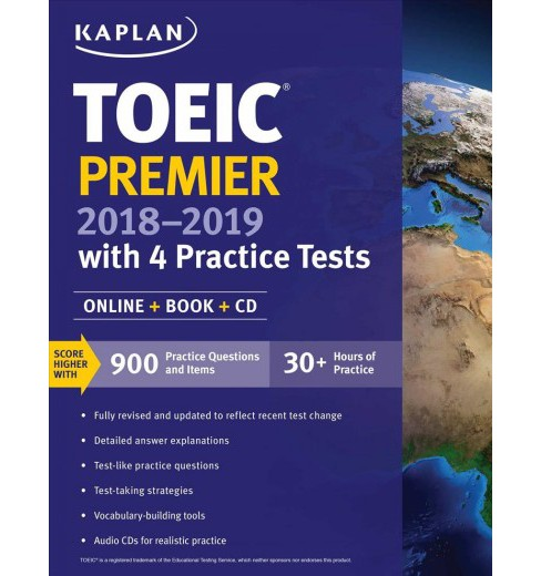 Toeic Premier with 4 Practice Tests 2018-2019 (Paperback) - image 1 of 1