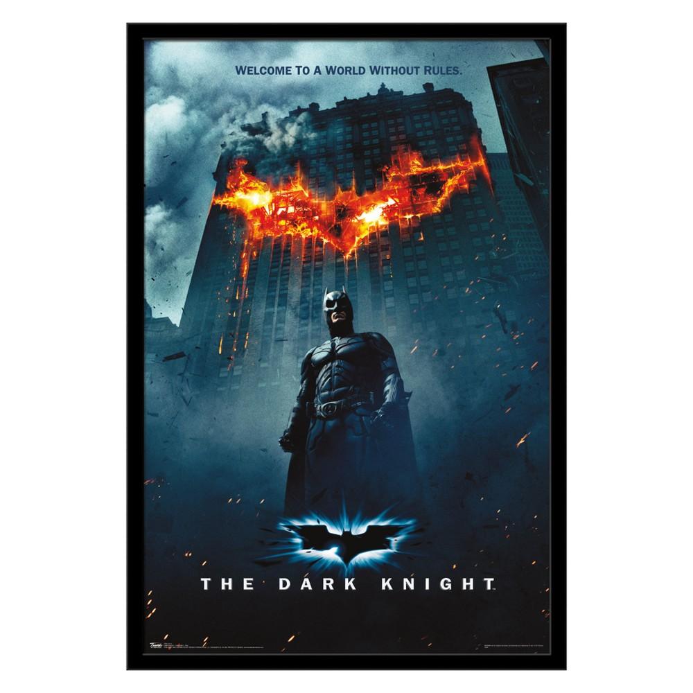 Dark Knight - One Sheet - Fire Framed Poster Trends International, Multi-Colored
