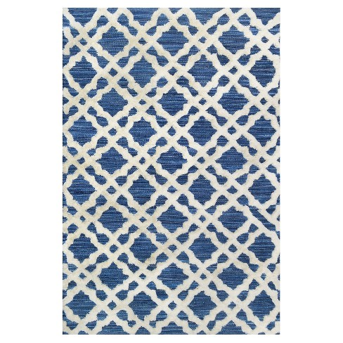 Area Rug Overtufted Wool Indigo 5'X7' - Threshold™ - image 1 of 1
