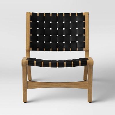 Ceylon Woven Accent Chair Black - Opalhouse™
