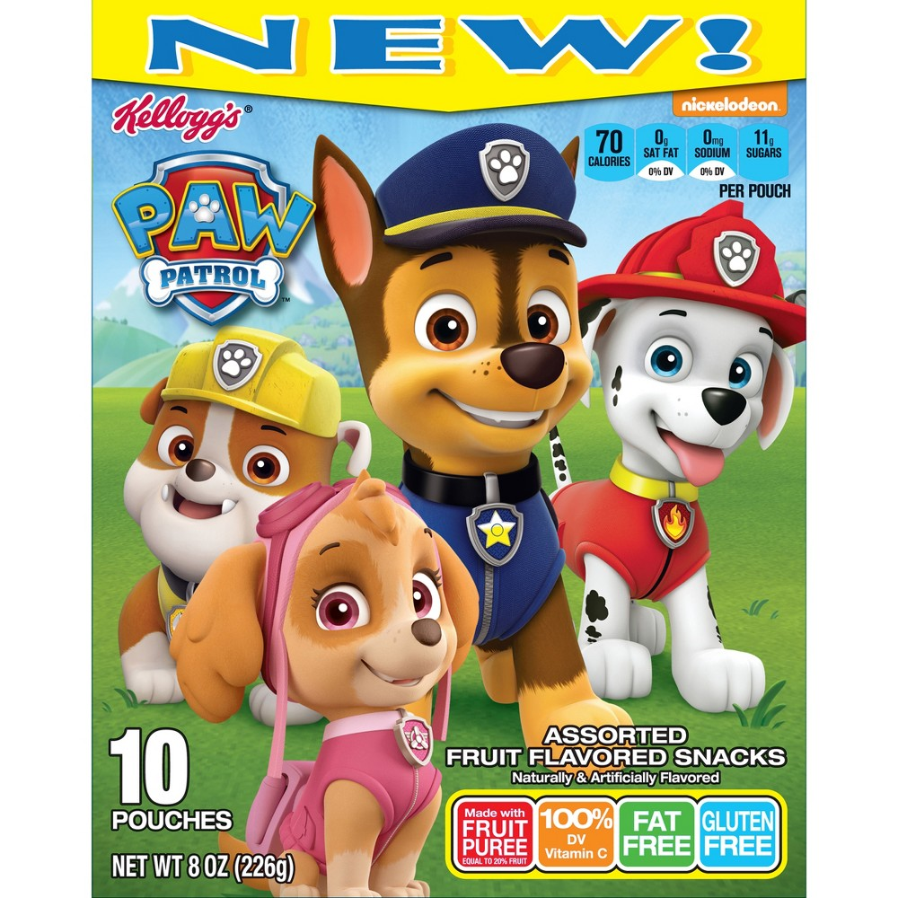 Kellogg's Paw Patrol Assorted Fruit Flavored Snacks - 10ct