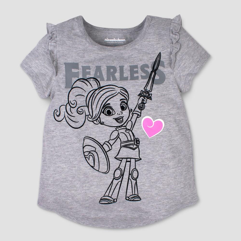 Toddler Girls' Nickelodeon Nella the Princess Knight Fearless Short Sleeve T-Shirt - Gray 3T