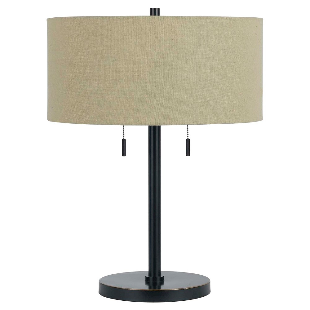 Image of Cal Lighting Calais Dark Bronze finish Metal Table Lamp with 2 bulb Sockets