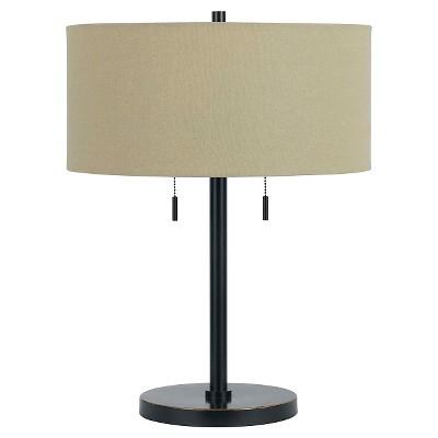 Merveilleux Cal Lighting Calais Dark Bronze Finish Metal Table Lamp With 2 Bulb Sockets
