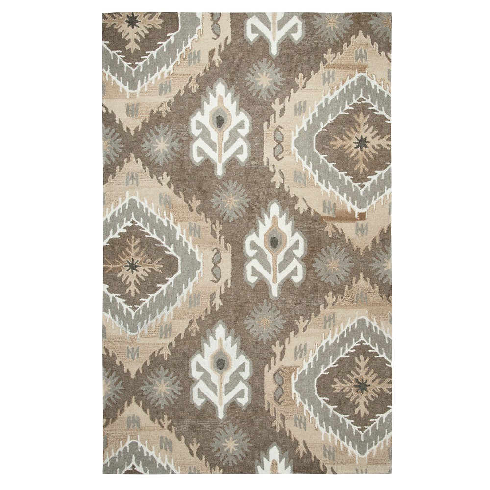 Medallion Ikat Rug - Brown - (9'X12') - Rizzy Home