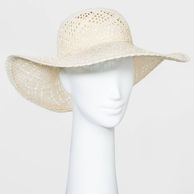 Women's Paper Straw Floppy Hat - A New Day™ White