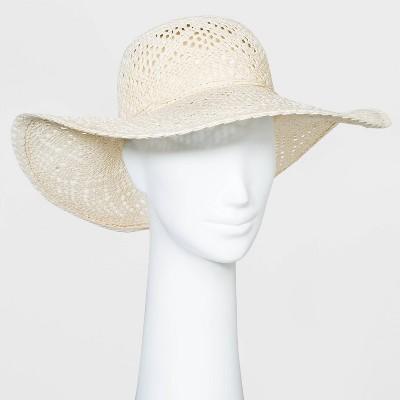 Women's Paper Straw Floppy Hat - A New Day™ White