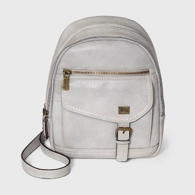 Concept Zip Closure Backpack - Light Gray