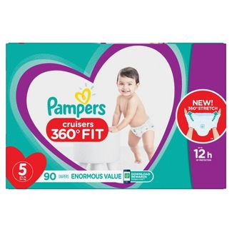 Pampers Cruisers 360 Disposable Diapers Enormous Pack - Size 5 (90ct)