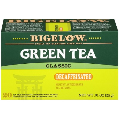 Bigelow Classic Green Tea Bags Decaffeinated  - 20ct
