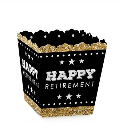 Big Dot of Happiness Happy Retirement - Party Mini Favor Boxes - Retirement Party Treat Candy Boxes - Set of 12