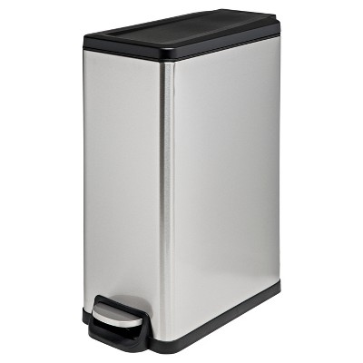 45L Rectangle Step Trash Can - Stainless Steel - Room Essentials™