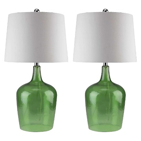 Abbyson Living Delmore Glass Table Lamp (Set of 2) - Jade - image 1 of 3