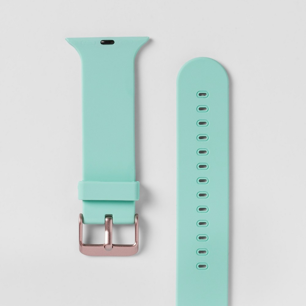 Heyday Apple Watch Band 38mm - Light Mint, Size: 38-40mm With the Apple Watch Silicone Band from heyday, you'll be able to instantly customize the look of your Apple Watch. This Apple Watch band will give you an easy way to achieve the style you love with your favorite everyday accessory. Thanks to the silicone construction, you'll also be sure to get a comfortable fit that lets you make the most of your technology. hey, you. It's time to make your day. So take a minute to live out loud, to power your look, and let your style speak volumes. Size: 38-40mm. Color: Light Mint. Gender: Unisex.