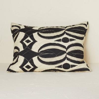 Standard Printed Quilt Sham Black/Tan - Opalhouse™ designed with Jungalow™