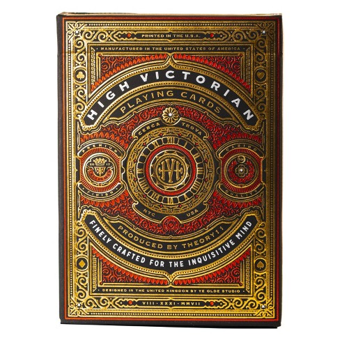 High Victorian Playing Cards Red - image 1 of 4