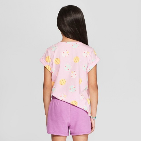 6125cfda032 Girls  Short Sleeve Unicorn Print Pocket T-Shirt - Cat   Jack™ Pink ...