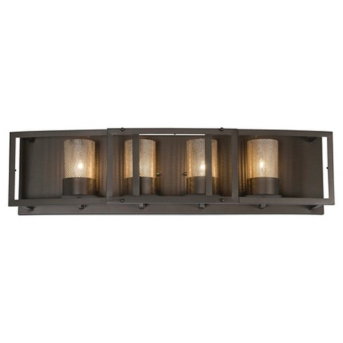 Jackson 4 Light Bath Fixture - Rustic Bronze - image 1 of 4