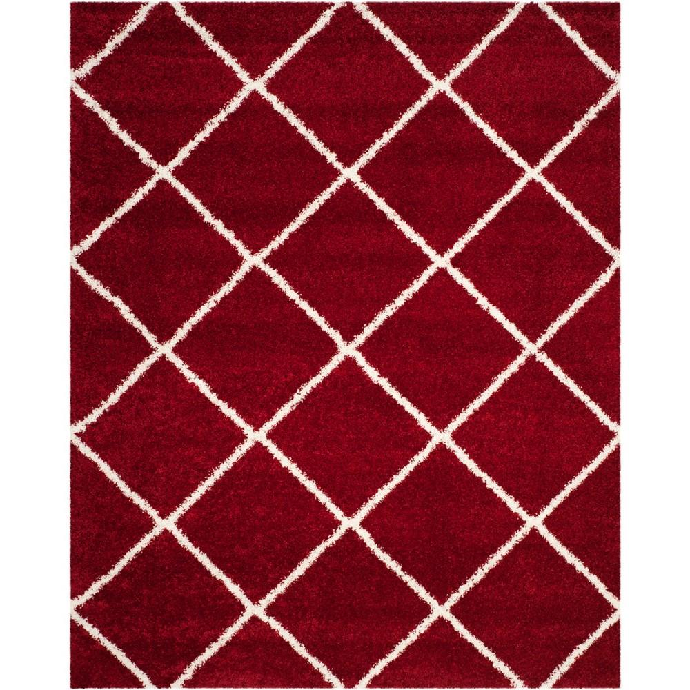 9'X12' Geometric Loomed Area Rug Red/Ivory - Safavieh