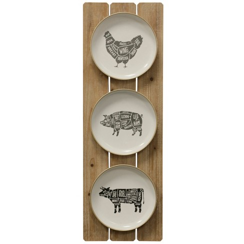 35 43 Farm Animals Plates Decorative Wall Art Stylecraft