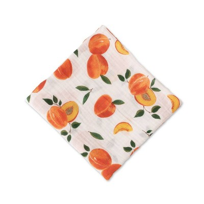 Red Rover Cotton Muslin Single Swaddle - Peachy