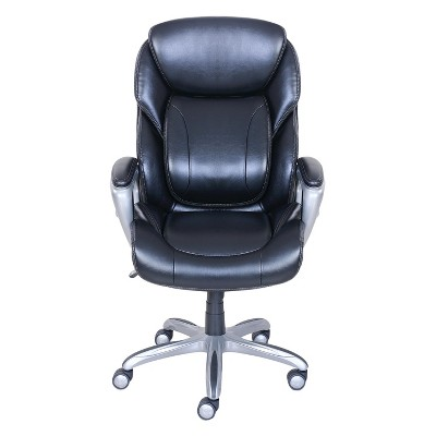 My Fit Executive Office Chair With Tailored Reach   Black   Serta : Target