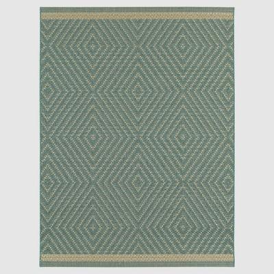 Azure Textured Diamond Outdoor Rug - 8'x10' - Smith & Hawken™
